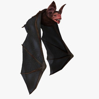 3d vampire bat fly animation