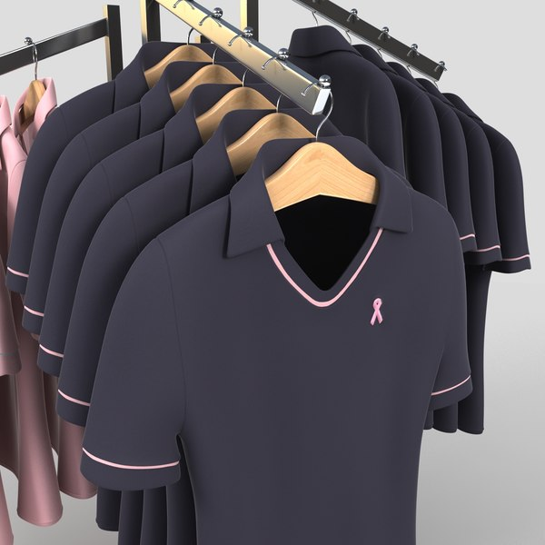clothing womens golf polo x - Womens Golf Polo Shirt Display... by monkeyodoom