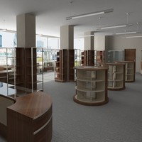 scene bookshop 3d model