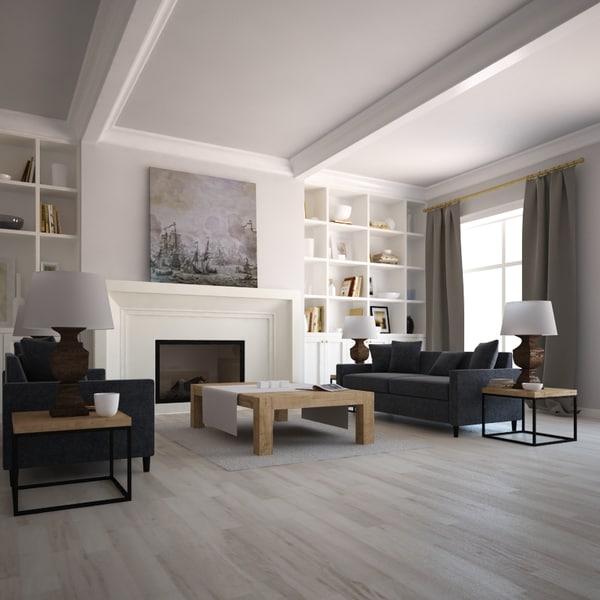 3d model interior scene for Vray interior scene