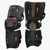 3ds max motocross knee brace evs