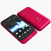 red sony xperia tipo 3d 3ds