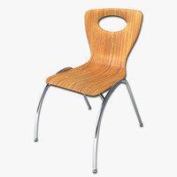 cafe chair 3ds