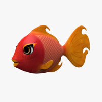 cartoon fish 3d obj