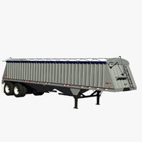 3d dakota 36ft grain trailer model