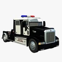 3d model 385 truck police