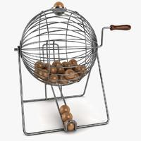 Vintage Wire Bingo Cage