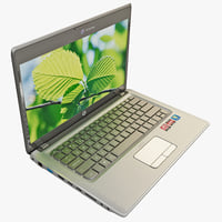 3d laptop hp pavilion computer screen model