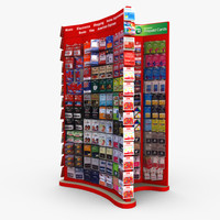 3d model retail end cap -