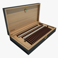 3d box cigars model