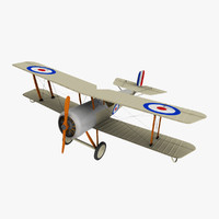 bristol scout aircraft 3d model