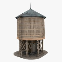 3d model of water tower tank