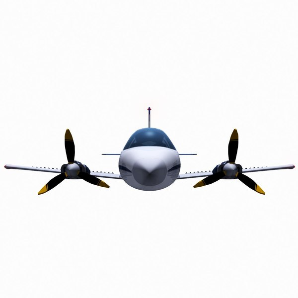 Used Turboprop: 3d Twin Piston Small Airplane