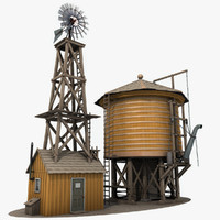 3ds max windmill water tower