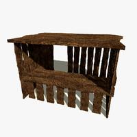 medieval shop 3d max