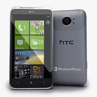 3d obj htc titan ii smartphone