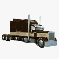 379 truck trailer 3d model
