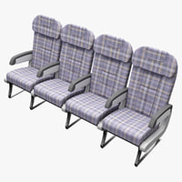 aircraft passenger seats 2 3d model