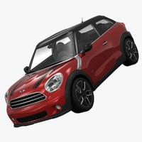 3d bmw mini cooper all4 model