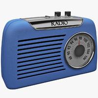 retro radio 3d max