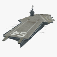 uss constellation 3d model