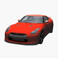 nissan gtr car 3d model