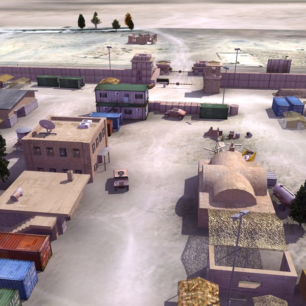 3d army forward operating model - FOB Military Camp... by ES3DStudios