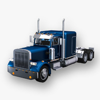 3d 359 truck cab trailer model