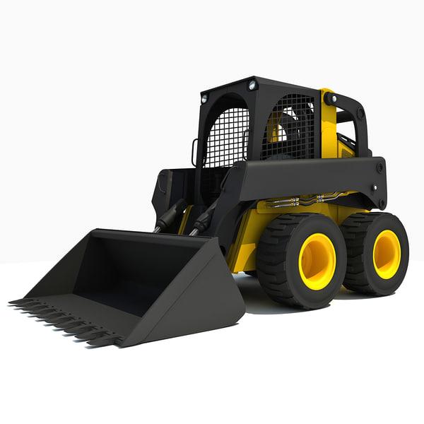 3ds max skid steer loader skid steer loader by gandoza