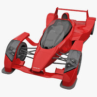 realistic supercar caparo t1 3d model