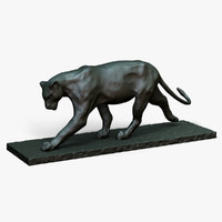 bronze sculpture bugatti 3d model