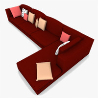 sectional sofa 3d model