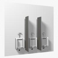 3d urinals model