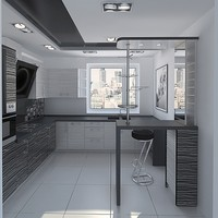 kitchen home kitchenette 3d max