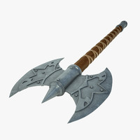 3d battle axe model