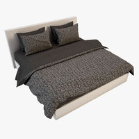 3d model bedcloth bed