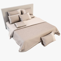 3d model of bedcloth bed