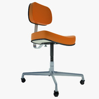secretarial chair 1972 3d 3ds
