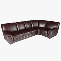 right hand facing corner sofa 3d model