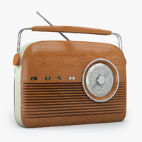 3ds max bush retro radio