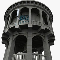 bastia hill water tower 3d model