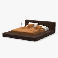 platform bed soft 3d model