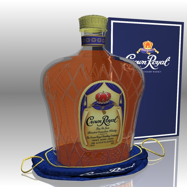 crown royal whisky set 3d model - Crown Royal Whisky Set... by Working Lens Productions