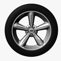 3d mustang rim tire