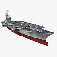 3d uss george h w bush model