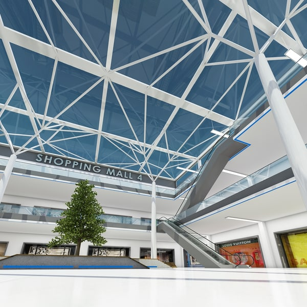 3d model shopping mall 4 - Shopping Mall 4... by fuuuuuu