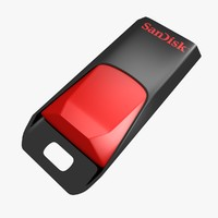 sandisk usb flash drive 3d model