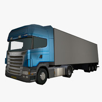 truck scania r420 trailer 3d model