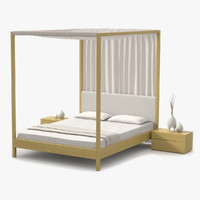 s max canopy bed maple wood