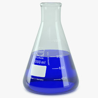 3ds max erlenmeyer 1000 ml lab